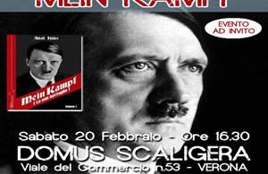 """Presentazione """"Mein Kampf"""" a Verona"""